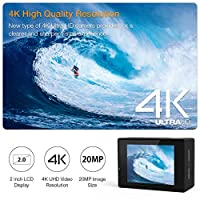 APEMAN Action Camera 4K 20MP WiFi Ultra HD Underwater Waterproof 40M Sports Camcorder with 170° EIS Sony Sensor, 2 Upgraded Batteries, Portable Carrying Bag and 24 Mounting Accessories Kits