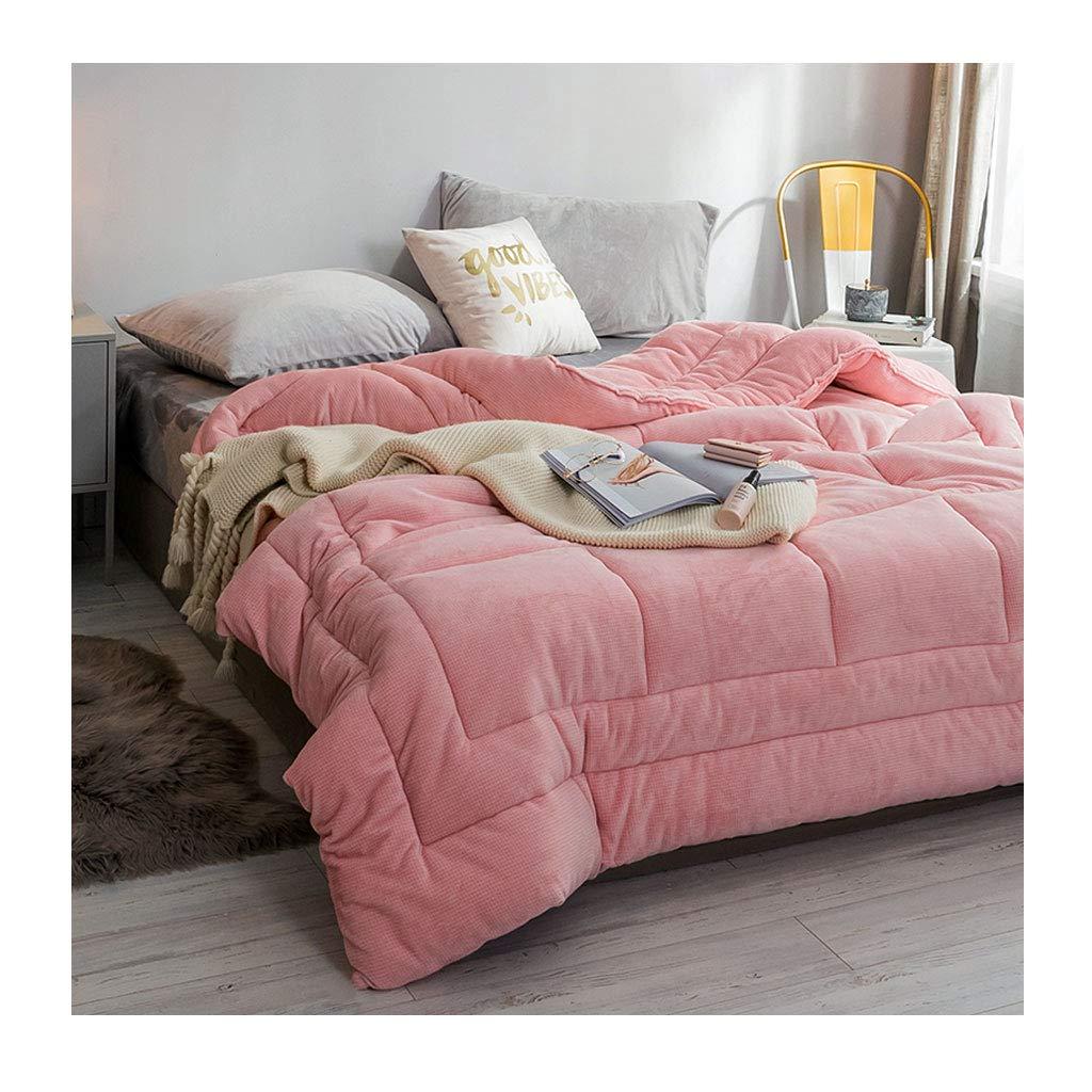 全日本送料無料 ファッションティーンは暖かい個別の二重の秋と冬のキルトを保つ暖かいソフトコアベッドルームのホステルのベッドのライニングを保つ 220×240cm(4.5kg)) (色 B07MHXFSK5 : Pink, サイズ さいず : 220×240cm(4.5kg)) B07MHXFSK5 サイズ 150×200cm(3kg)|Pink Pink 150×200cm(3kg), バランスチェアのサカモトハウス:8105c0b9 --- itourtk.ru