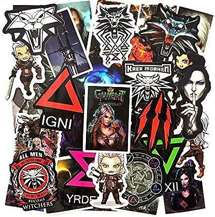 HUNJI The Witcher Decal Stickers Juego Pegatinas para Laptop ...
