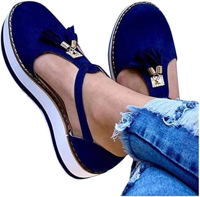 Women Tassel Round Toe Sandals Shoes