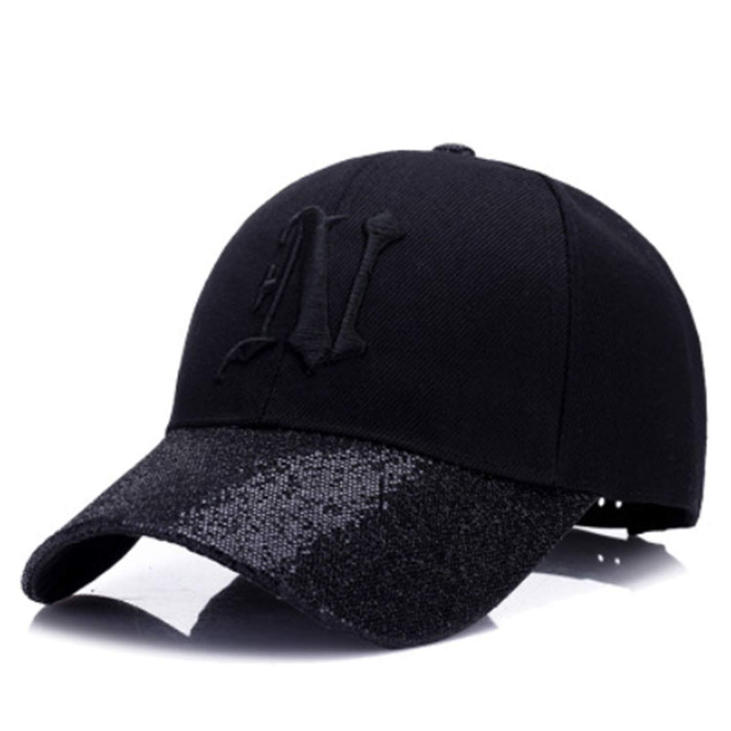NAAO New Ladies Letter Embroidered Baseball Cap Sequins Fashion Casual Curved Hats Girls can Adjust Hip hop Hats