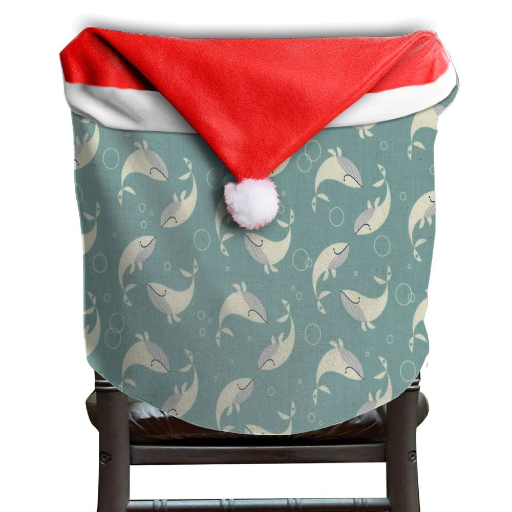 Whale Animal Christmas Chair Covers Great Not Fade Hang Around Chair For Adult Chair Back Covers Holiday Festive