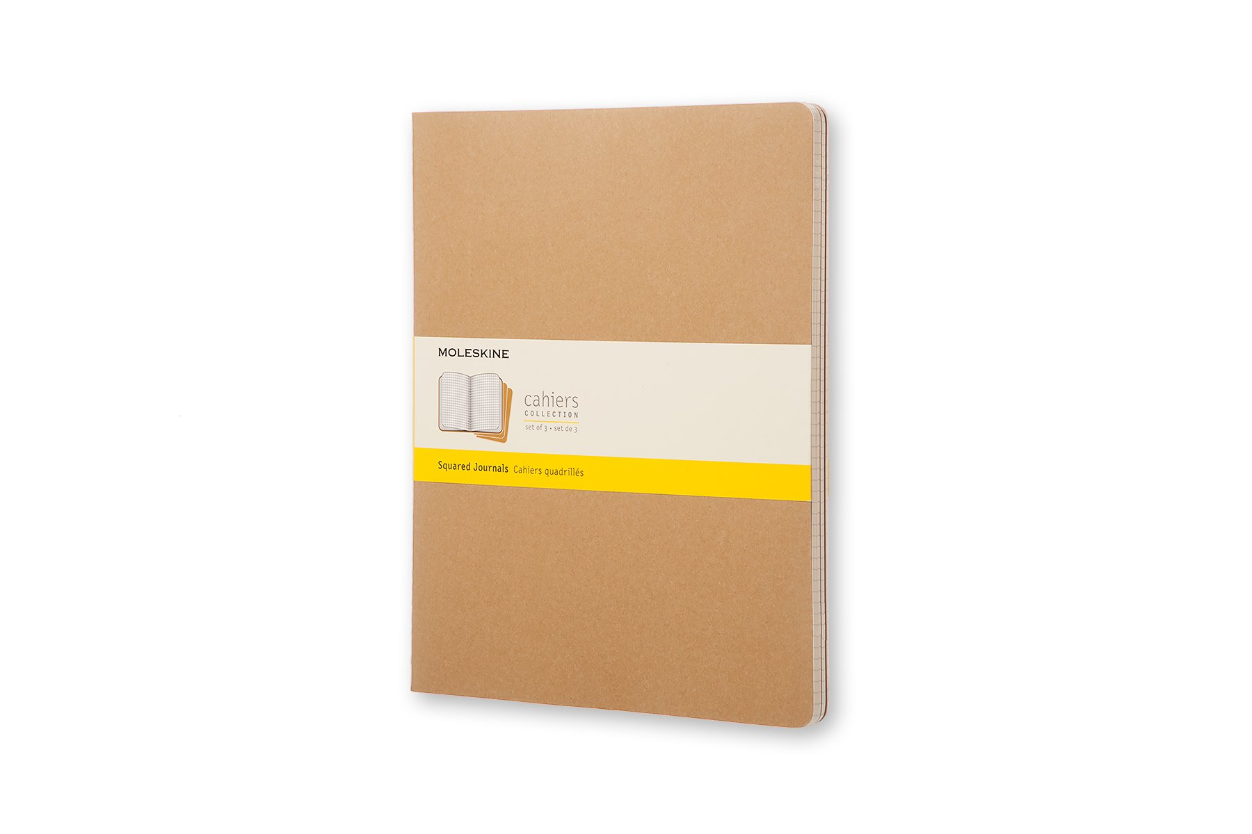 Moleskine Cahier Soft Cover Journal, Set of 3, Square ()