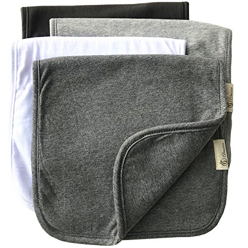 Burp Cloths for Babies, Grey Black and White Set, 20