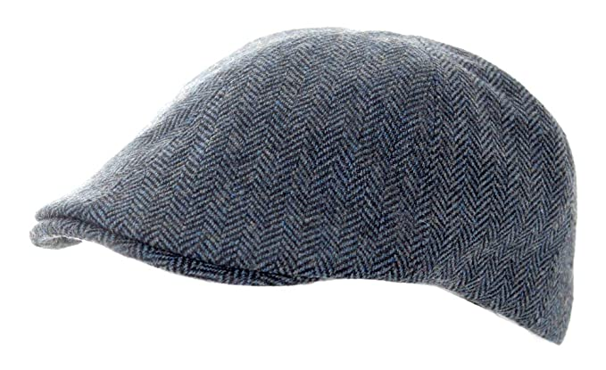6089c6dd Heritage Traditions Duck Bill Flat Cap Hat (Blue) at Amazon Men's Clothing  store: