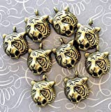 Extensive Collection of Charm 8 Tiger Charms Antique Bronze Tone Classic Style - BC313 Express Yourself