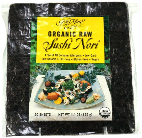Gold Mine Organic Raw Sushi Nori, 50 Sheet, 4.4 Ounce