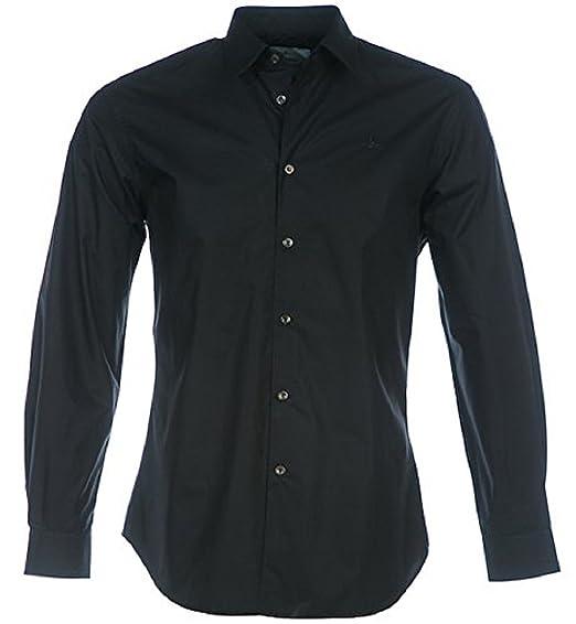 a8cf8fe276 Vivienne Westwood Tonal Logo Men's Shirt in Black - Large: Amazon.co ...