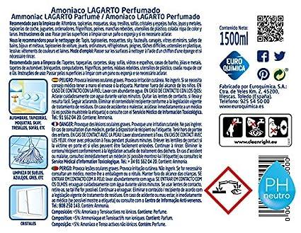 Lagarto Amoniaco con Detergente - Perfumado - Paquete de 8 x 1500 ...