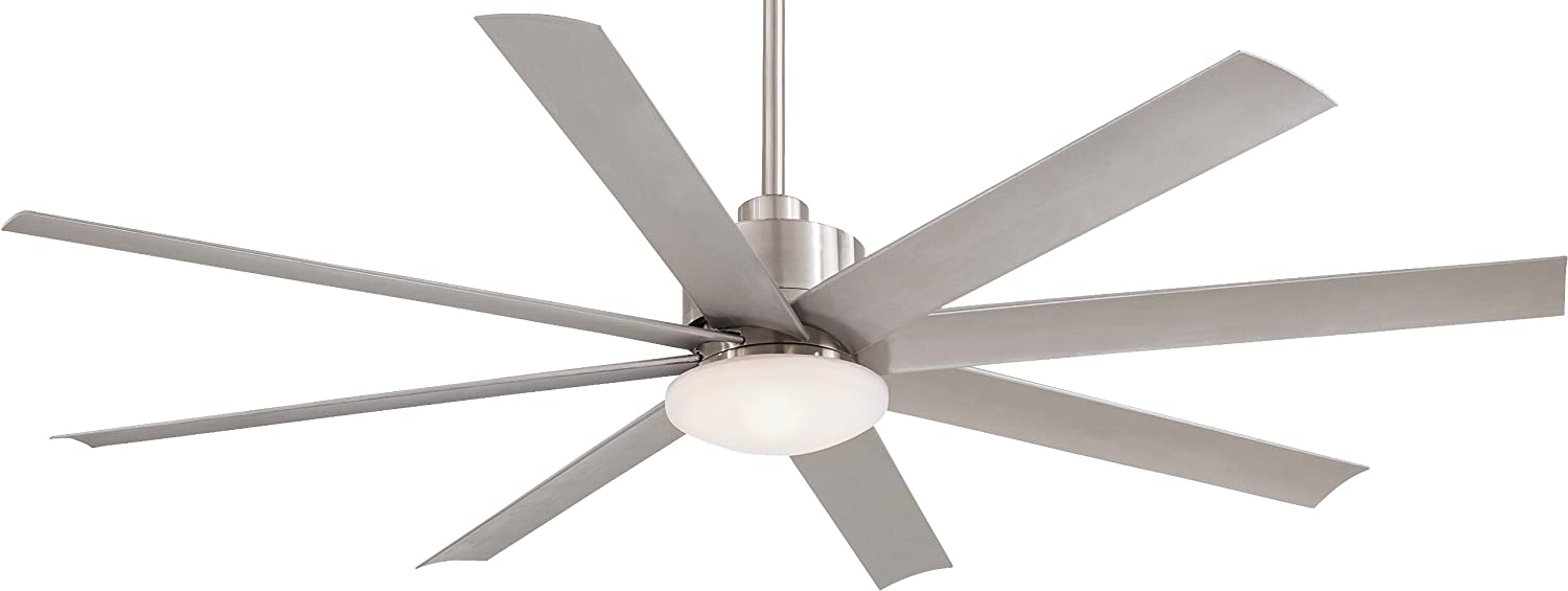 Minka Aire F888-BNW One Light Brushed Nickel Wet Ceiling Fan ...