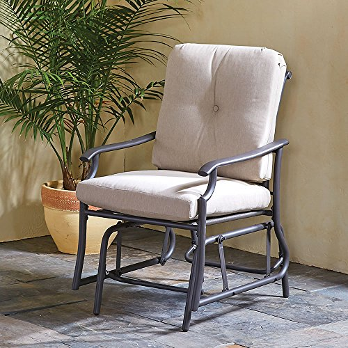 The All Weather Arm Chair Glider by Hammacher Schlemmer