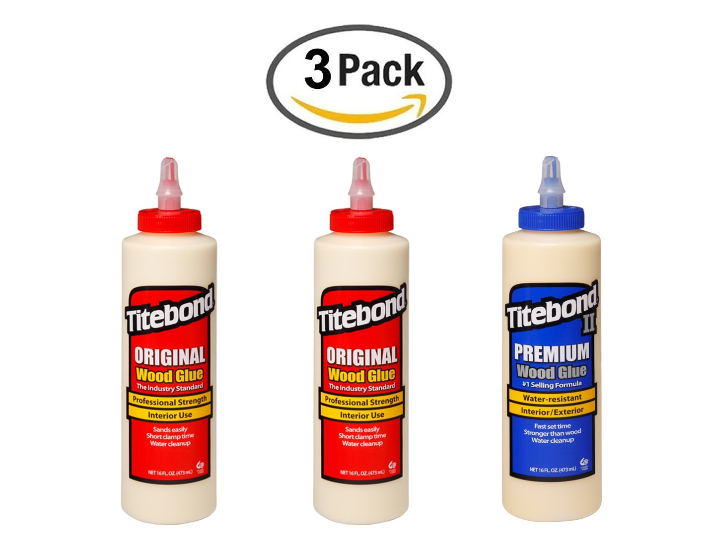 Titebond Original Wood Glue 2  x 16  oz Titebond II Premium 16  fl oz (473  ml) Franklin International