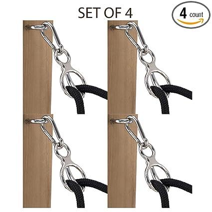 Set of 2 Tie Ring    Horse Tie Ring Stainless Steel Blocker