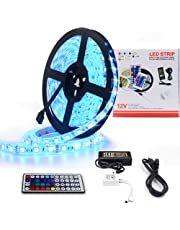 LETOUR LED Strips SMD 5050 RGBW 6000K 16.4ft 300 LEDs 5Meters LED Light Strip Waterproof IP65 Flexible Light with 44Key Remote & 12V Power Supply