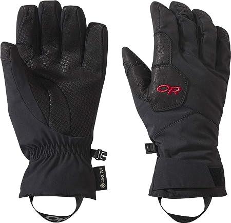 Outdoor Research W Bitterblaze Aerogel Gloves - Guantes de Gore-Tex para mujer, talla M, color negro y rojo