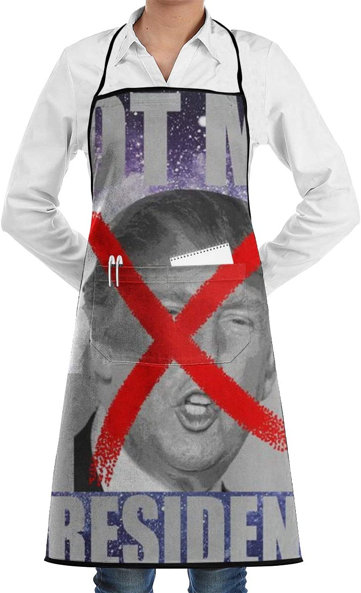 Kitchen Cooking 2 Pcs 3D Aprons Not My President Galaxy2 X Spray Paint Anti Trump for Men, Women with 1 Pockets - Mothers Day, Birthday Gifts for Mom, Dad, Wife, Husband, Daughters, Grandma, Friends