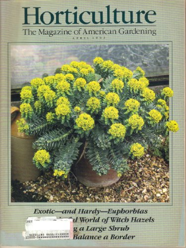 Horticulture Magazine,april 1992 -