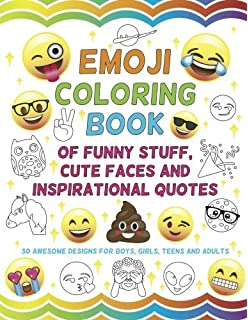 Amazon Com Emoji An Emoji Coloring Book For Kids With 50 Funny