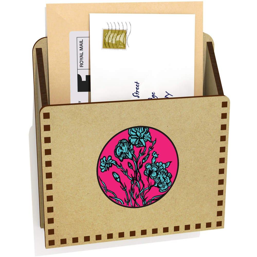Box Azeeda Blumenmotiv Hölzern Brief Halter LH00032507