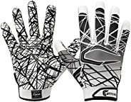 Cutters Game Day Football Glove, Silicone Grip Receiver Glove. Youth & Adult Sizes (1 P