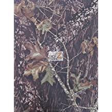 """MOSSY OAK BREAKUP WOODLAND CAMOUFLAGE SPANDEX FABRIC - Brown - 58"""" WIDTH SOLD BY THE YARD"""