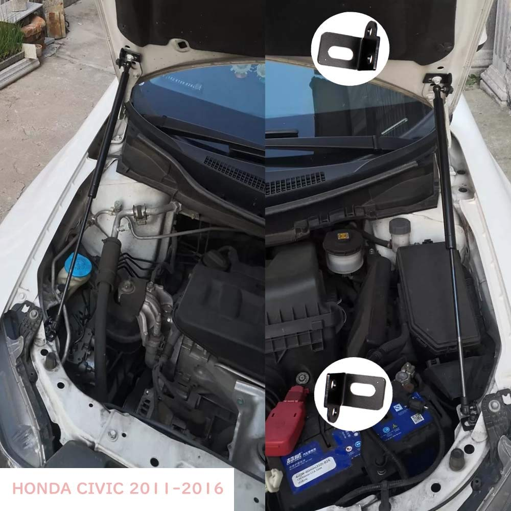 Ammortizzatore per cofano anteriore CIVIC 9a generazione 2011-2016 JINGLINGKJ 2 pezzi con pistoni a gas e altre aste in fibra di carbonio