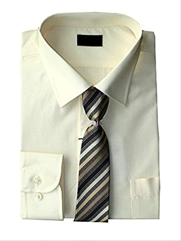Camisa Y Set Corbata Niños Formal/Inteligentes Camisa Manga Larga ...
