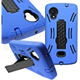 CoverON for LG Google Nexus 5 Case - [Titan Armor Series] Hybrid Hard and Soft Shockproof Dual Layer Protective Phone Cover w