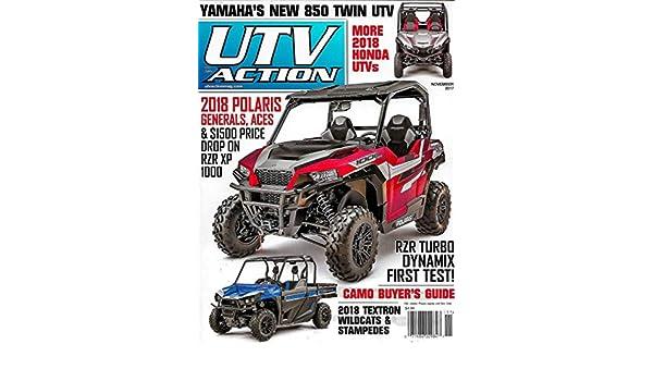 UTV ACTION Magazine November 2017 POLARIS GENERALS & ACES, RZR XP