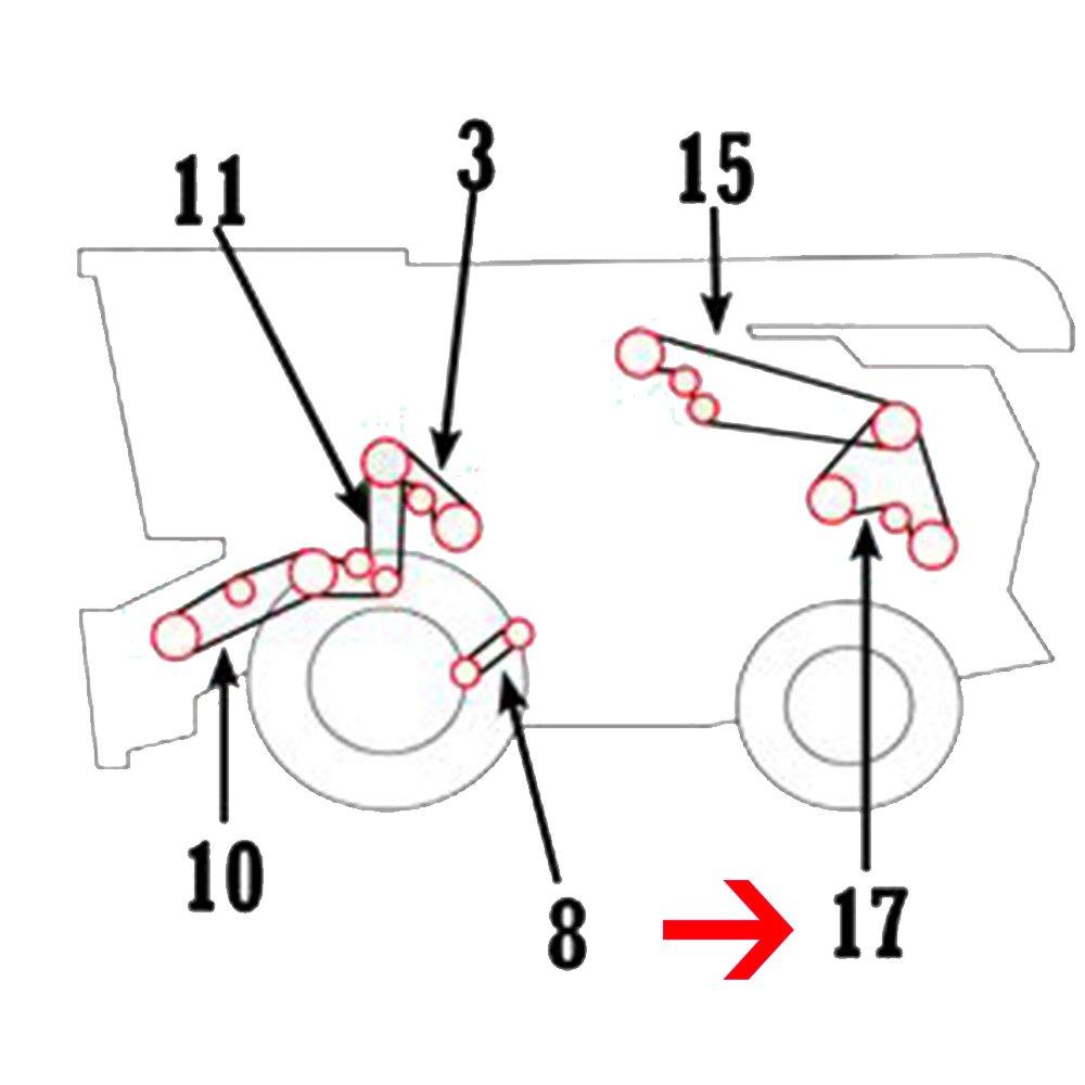 H155525 New Fine Cut Front Straw Chopper Belt For John Deere Combine CTS II