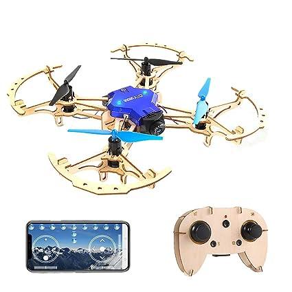 Goolsky- ZL100 Aviones de Madera DIY Drone con cámara 480P WiFi ...