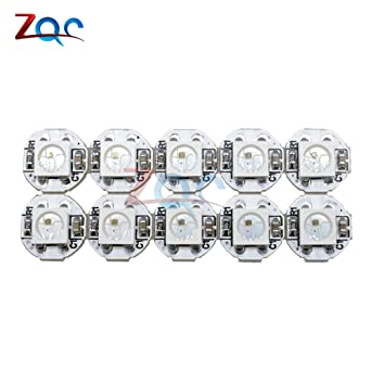 10Pcs DC 5V 3MM x 10MM WS2812B SMD RGB LED Mini PCB Board 5050 Chip Built-in IC-WS2812