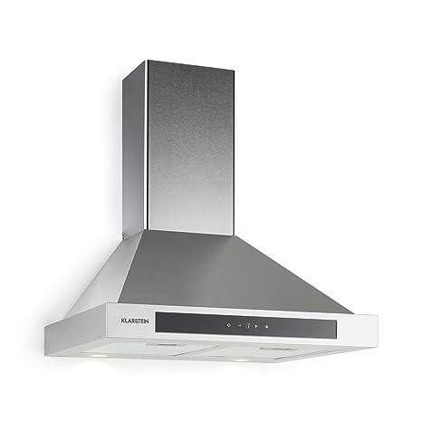 Klarstein Zelda Cappa Aspirante Aria Di Scarico Ricircolo 3 Passi Max 620 M H Touch Timer Acciaio Inox Vetro 60 Cm Filtro In Alluminio