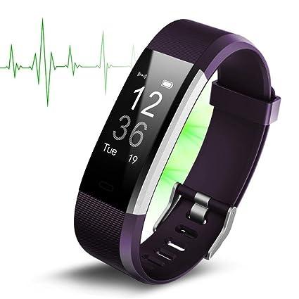 Fitness Tracker, fitness pulseras Actividad tracker, monitor de frecuencia cardíaca, dormir Monitor, podómetro con 14 Entrenamiento, 4 reloj manecillas ...