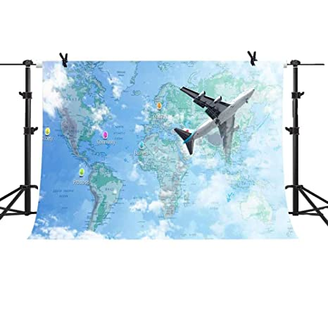 Amazon com : MME 10x7Ft Navigation Map Photography Background