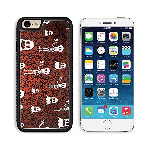 Liili Premium Apple iPhone 6 iPhone 6S Aluminum Backplate Bumper Snap Case iPhone6 ID: 22284429 Happy Halloween ghosts and skeletons seamless pattern (Happy Skeleton Costume)