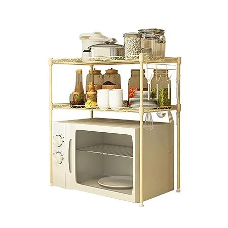 Cocina Ajustable Rack de Horno de microondas Medidor Amarillo de 2 ...