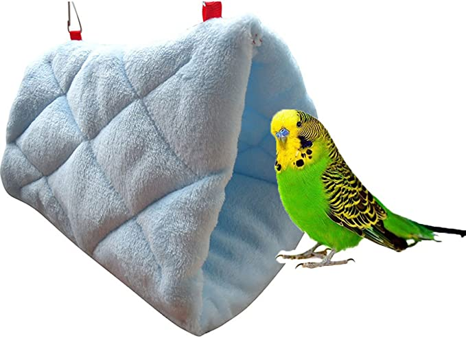 Bird Nest Winter Warm Habitat Handmade for Parakeets Cockatiels Finches Canaries Lovebirds,Super Weight-Bearing Parrot Hut House Hanging Hammock,Parrot Nest Swing Tent Bed Cave Cage