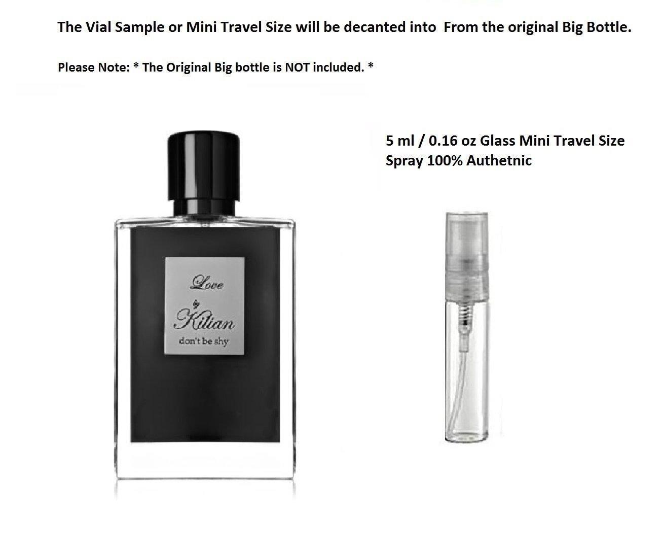 Kilian LOVE DON'T BE SHY 5 ml 0.16 oz EDP Glass Mini Travel Size spray Authentic