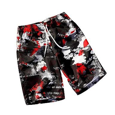 Pantalones Cortos para Hombre Sasstaids Shorts AlgodóN Pantalones ...