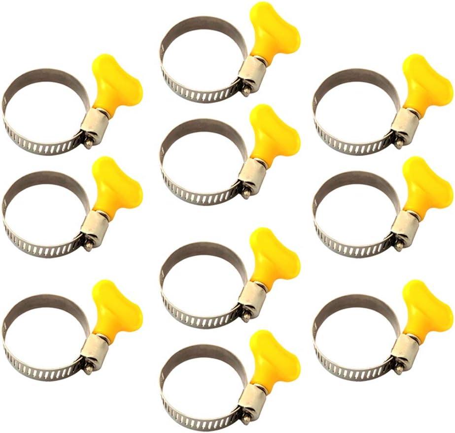 SDENSHI 10pcs Mariposa De Acero Inoxidable Mini Jubileo Abrazaderas De Manguera De Combustible Clip De Ajuste - 22-32mm