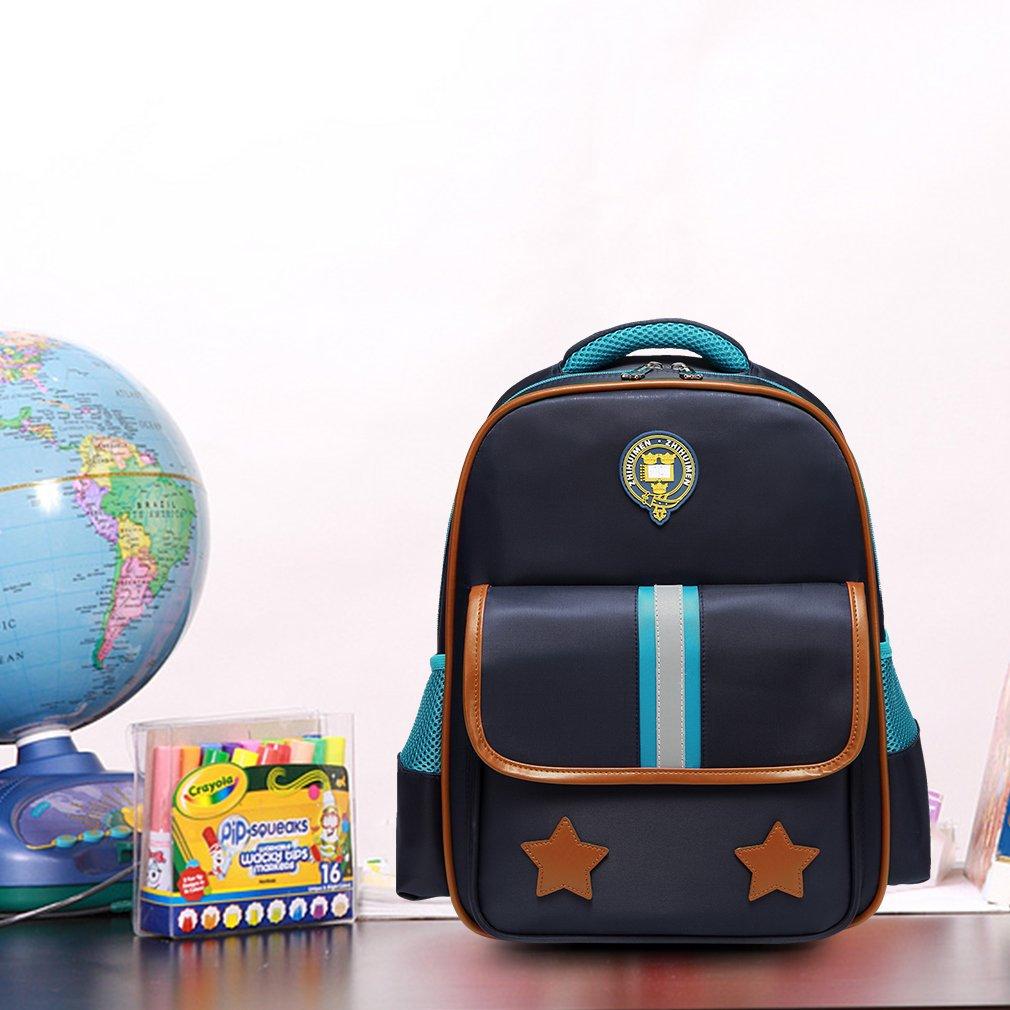 Kasqo Kids Large Lightweight Waterproof Children Backpack for Preschool Navy Boys Backpack