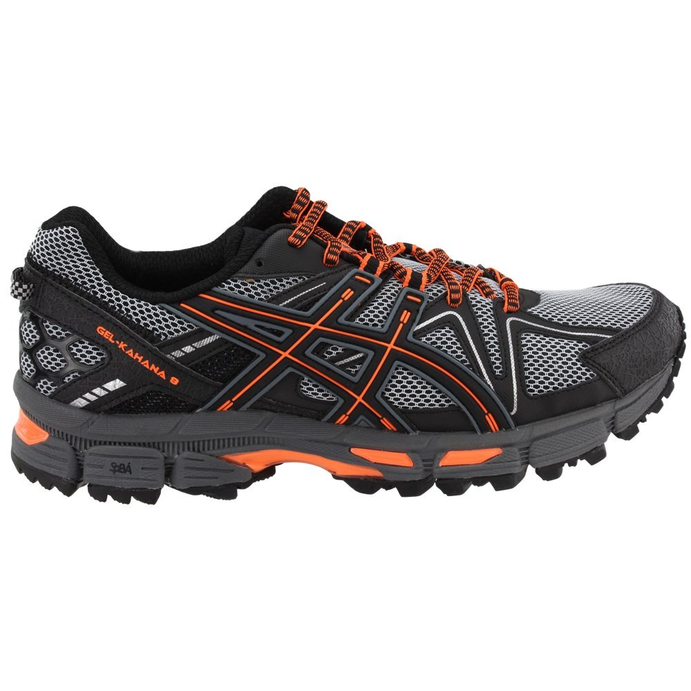 ASICS Mens Gel-Kahana 8 Running Shoe Black/Hot Orange/Carbon 6.5 Medium US by ASICS (Image #2)