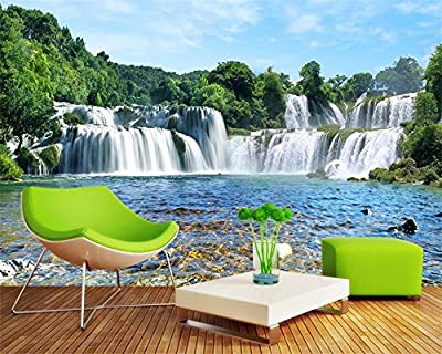 ShAH Custom 3D Wallpaper Mural Floor Sticker Home Decoration Fresco Large Waterfall Landscape Living Room Bedroom Tv Background Mural 3D Wallpaper Mural Floor Sticker