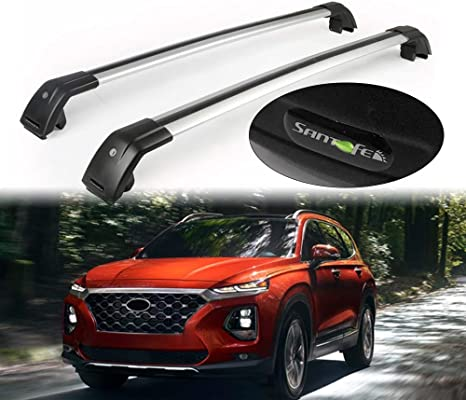 Lequer Cross Bars Crossbars Fits for Nissan Kicks 2018 2019 Baggage Carrier Luggage Roof Rack Rail Lockable Adjustable Silver