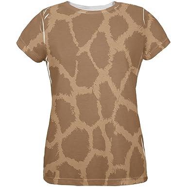 c31ad3d2 Amazon.com: Giraffe Pattern All Over Womens T Shirt: Clothing