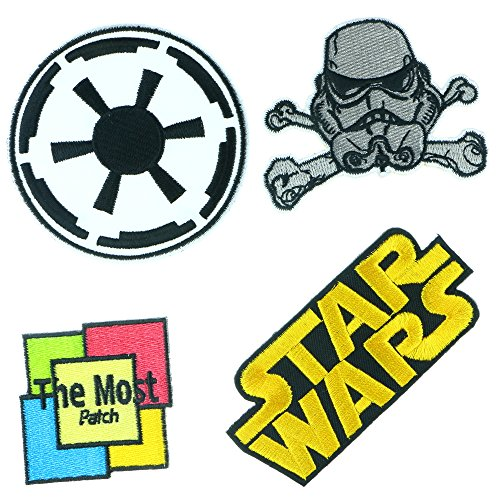 Lot of 4 (3+1) Star Wars Embroidered Iron / Sew On Patch