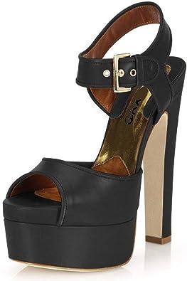 Wide Heel Platform Shoes