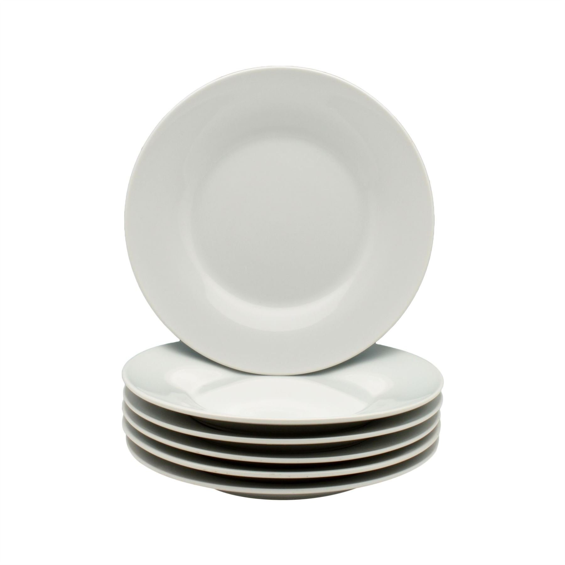 Argon Tableware Wide Rimmed Side/Dessert Plates - 154mm (6'') - Box of 6