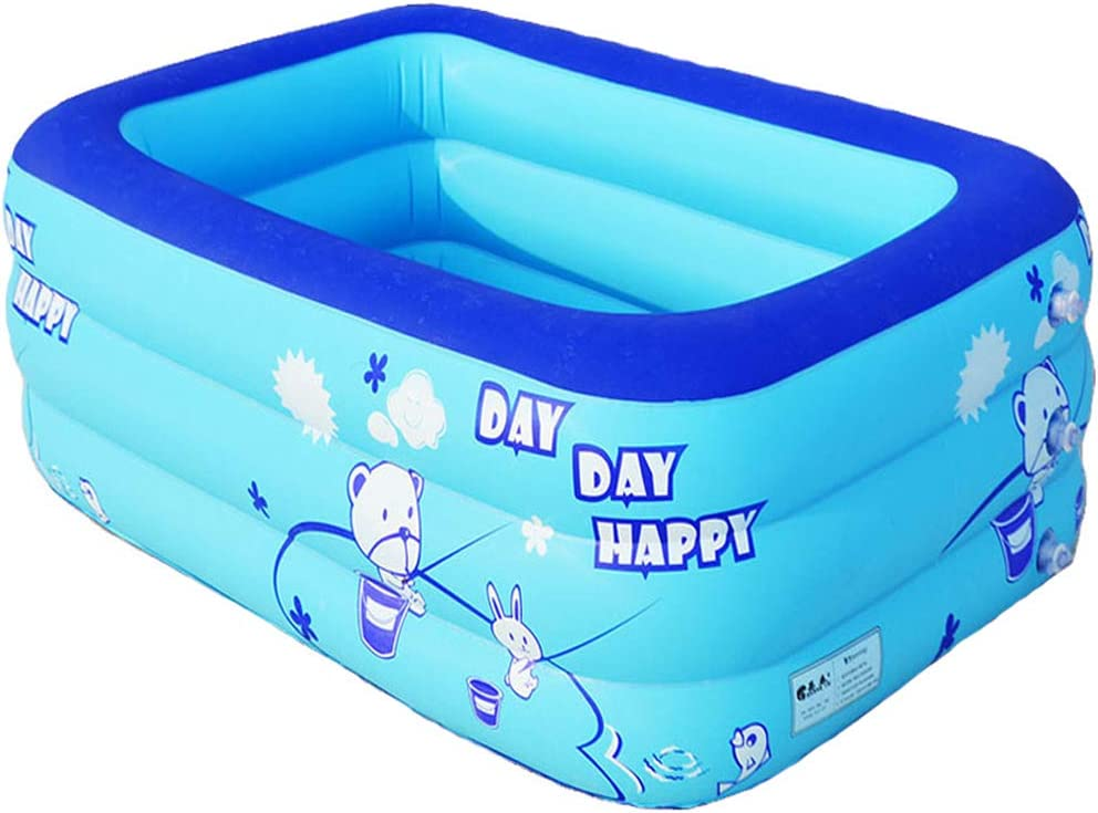 HOIHO Piscina Inflable, bañera Inflable de PVC, Piscina cómoda de la Bola del océano de los niños, Tina de Balneario Adulta portátil (Design : A, Size : 120cm)